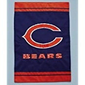 Fiber Optic Garden Flag Chicago Bears