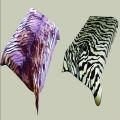 Two Sided Tiger Skin & Zebra Skin