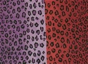 Two Sided Leopard Skins Purple & Red